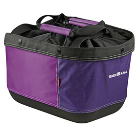 KlickFix Shopper Alingo GT Bike Basket for Racktime purple